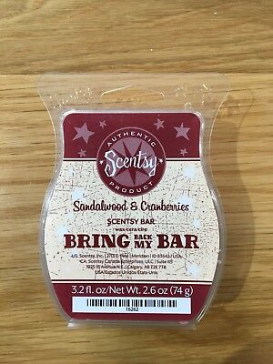 "Scentsy ""Bring Back My Bar"" SANDALWOOD & CHERRIES Wax Bar"