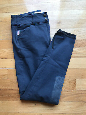 Tailored Sportsman Trophy Hunter Low Rise Front Zip Riding Breeches 28R blue