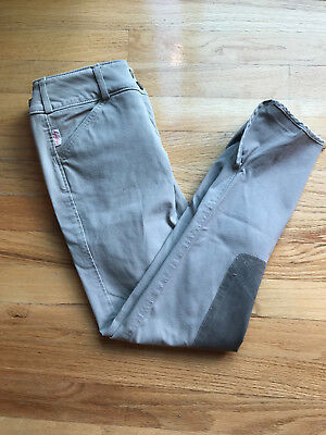 Tailored Sportsman Trophy Hunter Low Rise Front Zip Riding Breeches 26 Beige