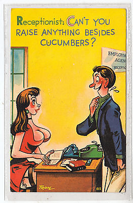 COMIC TROW POSTCARD - Can't You Raise Anything Besides Cucumbers ? -1968 used