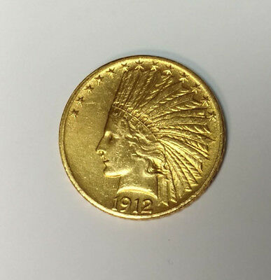 1912 US Gold $10 American Eagle Indian Head Coin