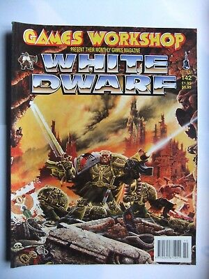 WHITE DWARF 142, WARHAMMER, 40,000 (40k), GAMES WORKSHOP, OCTOBER 1991