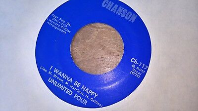 Unlimited Four Us Chanson 45 I Wanna Be Happy Ex