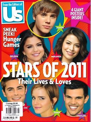 Us STARS OF 2011 4 GIANT POSTERS Justin Bieber Zac Efron Taylor Lautner Selena