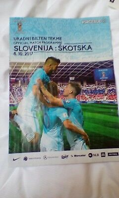 Slovenia V Scotland  unopened programme 8th October  home version