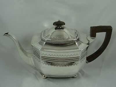 STUNNING , GEORGE III solid silver TEA POT , 1808, 566gm