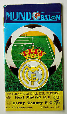 Real Madrid v Derby County - European Cup - Rd 2 - 1975
