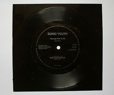 "SONIC YOUTH 'Teenage Riot' 7"" Flexi Disc Record Vinyl Rare Savage Pencil"