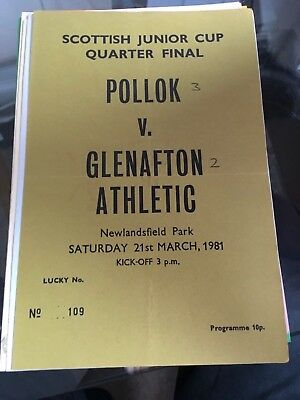 POLLOK v GLENAFTON 21.3.1981 SCOTTISH JUNIOR CUP