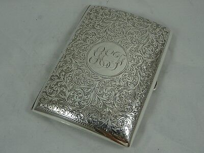 PRETTY EDWARDIAN sdilver CIGARETTE CASE, 1906, 151gm - Chester