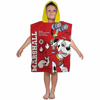 Paw Patrol 'rescue' Towel Poncho Kids Hooded Use For Bath Or Beach Free P+P