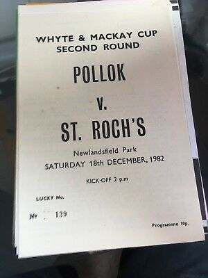POLLOK v ST.ROCHS  SCOTTISH 18.12.1982 WEST OF SCOTLAND JUNIOR CUP