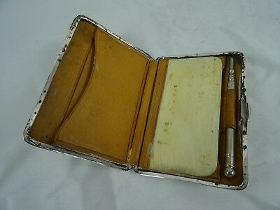 ART DECO, EDWARDIAN silver WALLET / CARD CASE, 1905, 104gm