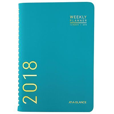 At Glance Monthly Fash Planner, Jan 2018-Dec 2018, 4-7/8 x 8, Contemporary Teal