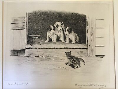 """Original Pencil Signed/Titled Etching by Marguerite Kirmse, """"How About It"""""""