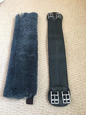 Wintec Dressage Girth 22 Inches And Christ Sheepskin Girth Sleeve 20 Inches