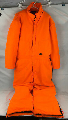 WALLS BLAZE Orange Coveralls Men's XL 46-48 Very lightly used Hunting Outdoors