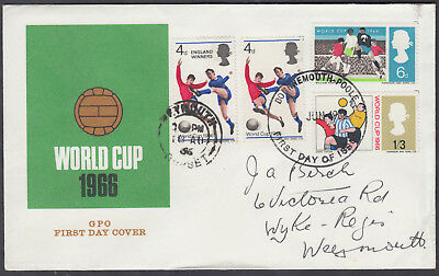 1966 World Cup Set + England Winners double-dated FDC Bournemouth-Poole/Weymouth