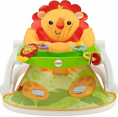 Fisher-Price Sit-Me-Up Floor Seat with Tray - Orange