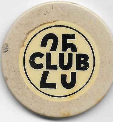 Crest & Seal Casino Chip-CLUB 25-Butte, Montana-CG071425-Closed 1950's