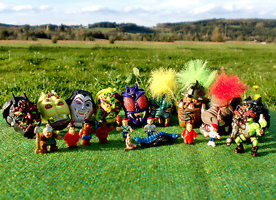 Tolle Mighty Max Sammlung von Bluebird / POLLY POCKET Horror Heads Zombie Mini