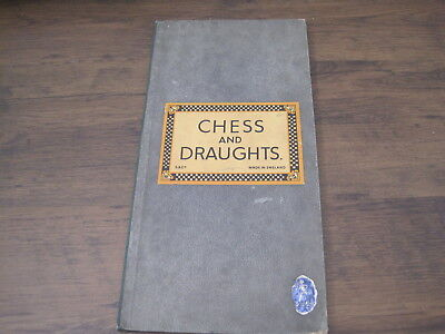 vintage goodwin chess & draughts board