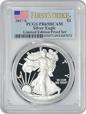 2017-S Silver Eagle Dollar PR69DCAM PCGS First Strike Limited Edition Proof Set