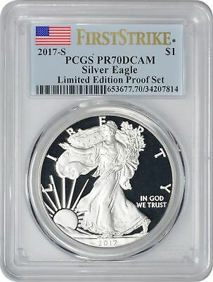2017-S Silver Eagle Dollar PR70DCAM PCGS First Strike Limited Edition Proof Set