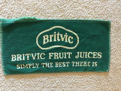 Britvic Fruit Juices  bar towel from England is about 20 years old.
