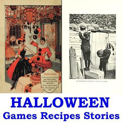Halloween Vintage eBooks on Disc Ghost Stories Fun Games Recipes Haunted Houses