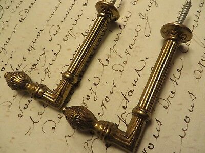 Elegant Pair Of Vintage French Cast Brass Curtain Tie Back Hooks