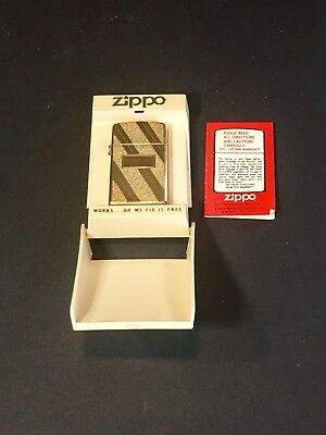 Vintage Zippo Lighter~ Gold Toned (Blank Engraving Space) With Case~