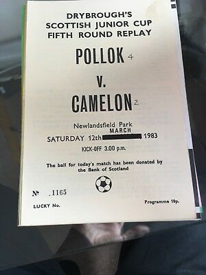 POLLOK v CAMELON 12.3.1983 SCOTTISH JUNIOR CUP