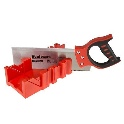Miter Mitre Box and 12 Inch Saw Cuts Angles Trim Frames Easy DIY Projects
