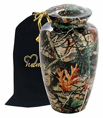 Camouflage Design Cremation Urn for Human Ashes - Adult Camouflage Urn