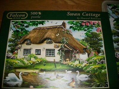 FALCON 500 pieces JIGSAW  - SWAN COTTAGE by Howard Robinson