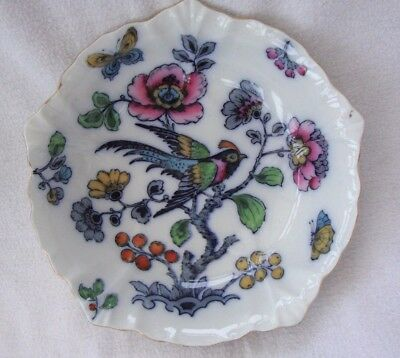A Vintage  Pretty Losol Ware Keeling Co.bird & Butterfly Ross Design Bowl W505/n