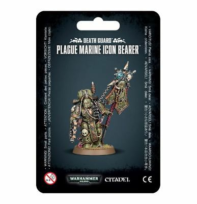 Warhammer 40,000 Chaos Death Guard Plague Marine Icon Bearer