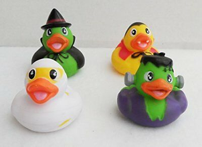 Halloween Rubber Ducks,Cute Set Of 4 Horror Icons Party Games, Favours, BathToys