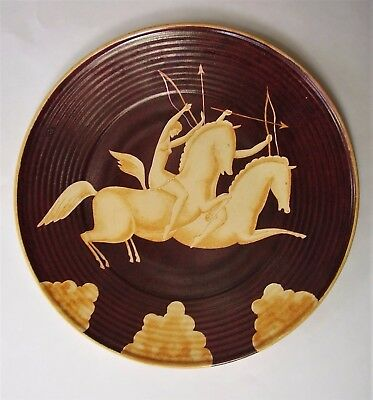 "Art Deco 12"" Charger with Mounted Archers"