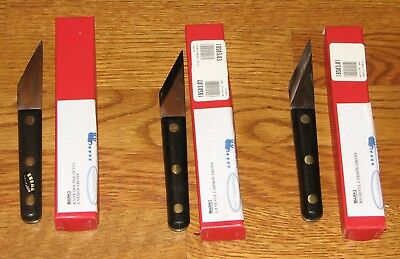 SKEW CHISELS knife set  garret wade french made, mark 1, 2 +3  set