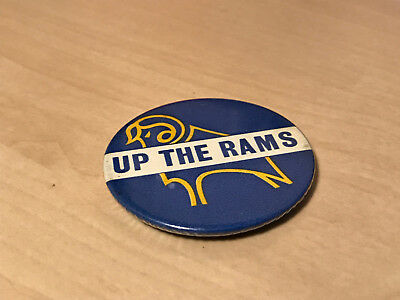 Vintage Up The Rams (Derby County Football Club) Pin Badge