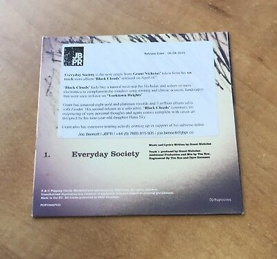 Feeder Grant Nicholas - Rare Promo CD Everyday Society