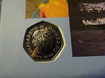 2011 50p WWF Amazon Alive Encapsulated Coin Cover