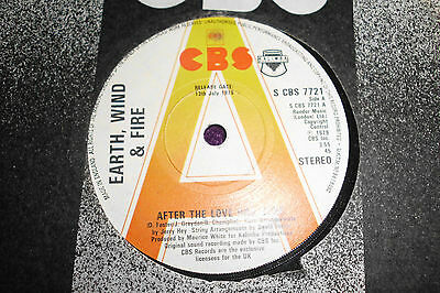 """EARTH,WIND&FIRE  """"After the Love Has Gone """" 1979 UK PROMO  7"""" S CBS 7721"""