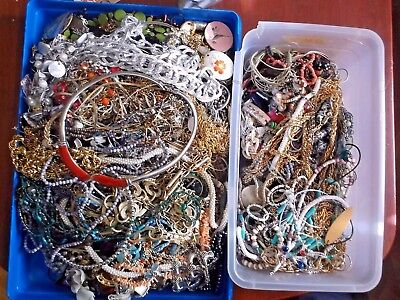 Lot Of Assorted Vintage To Now Necklaces  Approx. 22 1/2 Pounds
