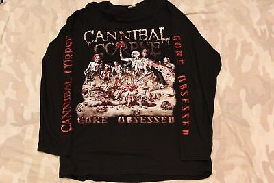 CANNIBAL CORPSE - GORE OBSESSED Long Sleeve Shirt XL RARE