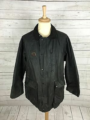 "Mens Burberry Wax Jacket - XL 50"" - Navy - Great Condition"