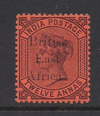 BRITISH EAST AFRICA  1895  12a purple on red  SG58  MM
