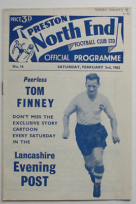 Preston North End v Derby County 1961/62 Div 2